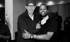 Me and my homie Pino Palladino, one of THE dopest bass players on the planet from outer space! Photo by Benjamin Brown